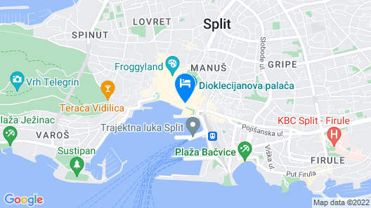 Riva and Diocletian Apartments Map