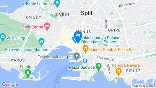 Villa Nepos Hotel Map
