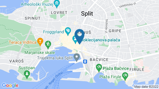 La Porta Luxury Rooms Map