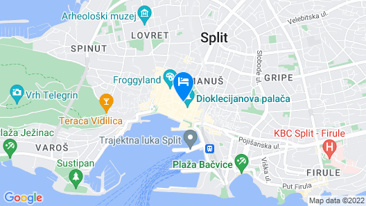 Villa Split Heritage Hotel Map