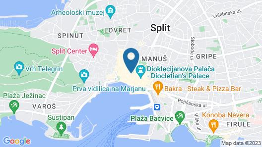 Palace Judita Heritage Hotel Map