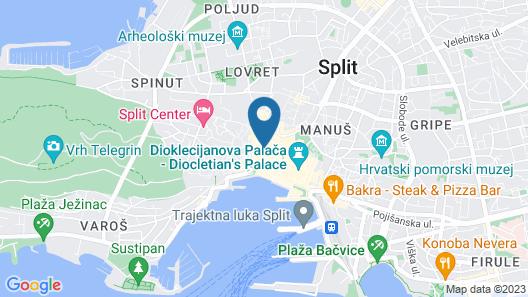 Marmontova Luxury Rooms Map