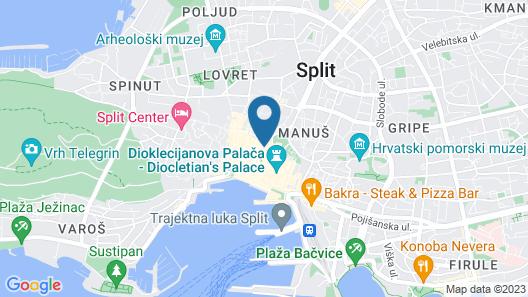 Cornaro Hotel Map