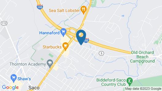Rodeway Inn Saco Map