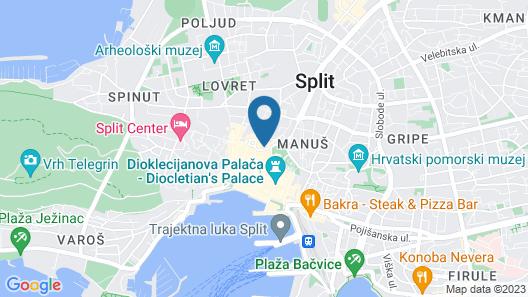 Prima Luxury Rooms Map