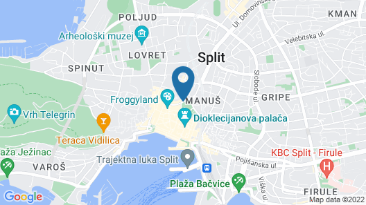 Nirvana Luxury Rooms Map