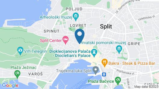 Peruzovic Rooms & Apartments Map