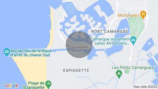 Studio 4 People, With Swimming Pool, Wifi, 400m Port-camargue Beach Map