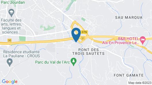 La Bastide du Roy Rene Map