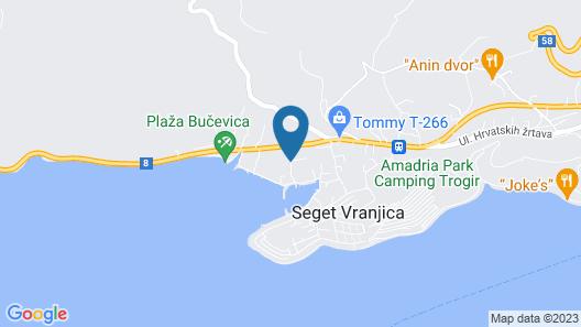 Villa Rustica Dalmatia Apartments Map