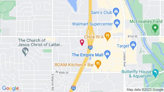Econo Lodge Sioux Falls Empire Mall Map