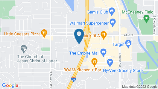 Econo Lodge Sioux Falls Empire Mall Map