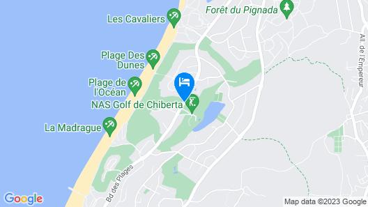Hôtel de Chiberta & du Golf Map