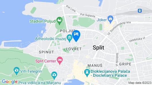 Split Apartments Peric Map