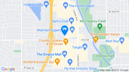 Best Western Empire Towers Map