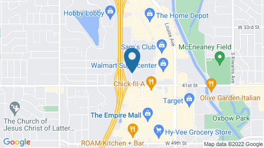 Comfort Suites Sioux Falls Map