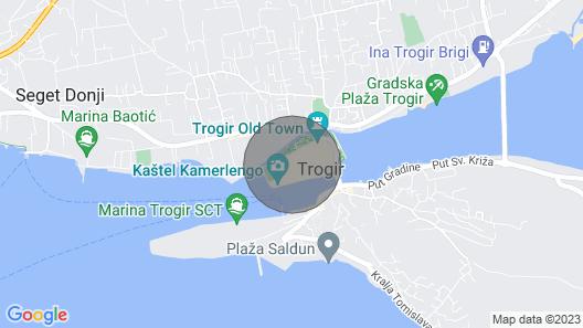 Charming Little Townhouse for 2+2, Trogir Center Map