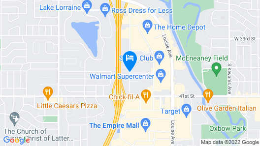 My Place Hotel-Sioux Falls, SD Map