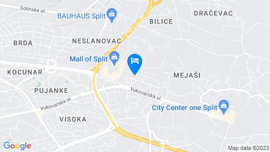 1 Bedroom Accommodation in Split Map