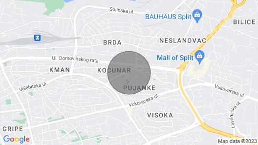 2 Bedroom Accommodation in Split Map