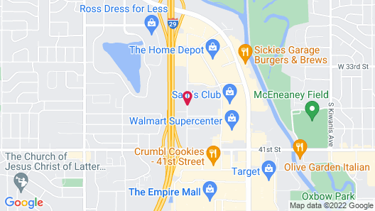 Microtel Inn & Suites by Wyndham Sioux Falls Map