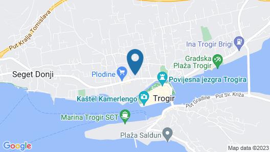 Apartmani Trogir Map
