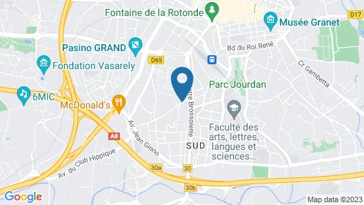 Hotel Le Pigonnet Map