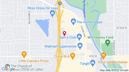 Candlewood Suites Sioux Falls, an IHG Hotel Map