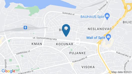 Design Hostel 101Dalmatinac Map