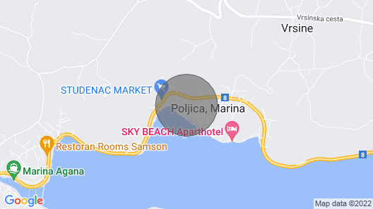 Holiday House Božena - Nice Garden: - Poljica , Riviera Trogir, Croatia Map