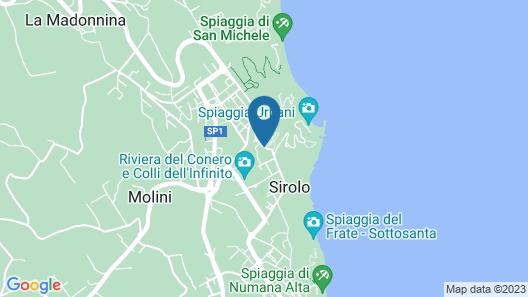 Trilocale con Corte Sirolo S65 Map