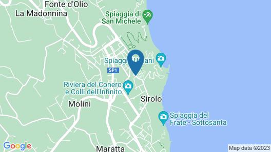 Hotel Sirolo Map