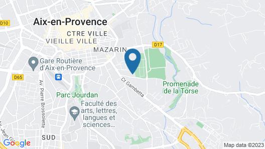 Villa Saint Ange Map