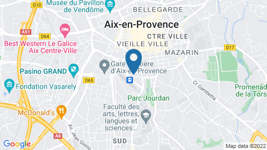 Boutique Hotel Cezanne Map