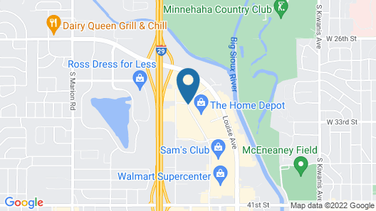 Holiday Inn Express & Suites Sioux Falls At Empire Mall Map