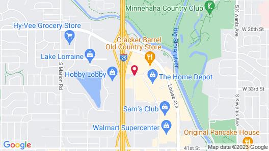 Hampton Inn Sioux Falls Map