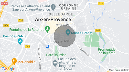Flat With a Garden - Aix-en-provence Map