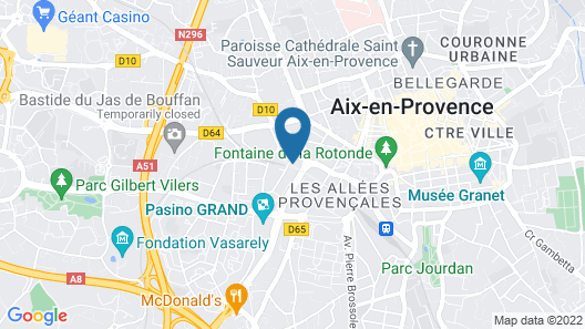 Renaissance Aix-en-Provence Hotel Map