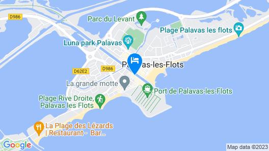Palavas hôtel Le france 4 étoiles Map