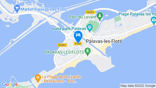 Amerique Hotel Palavas Plage Map