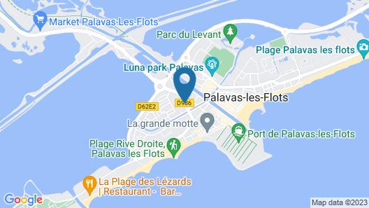 Amerique Hotel Palavas Plage (Logis) Map