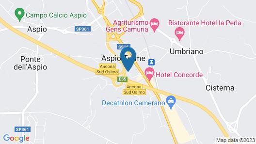 Hotel Palace Del Conero Map