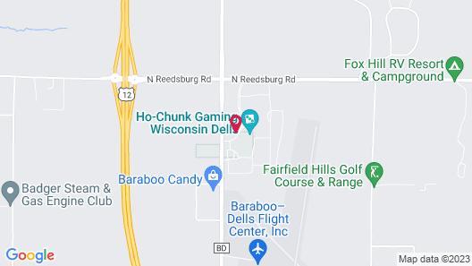 Ho-Chunk Casino Hotel - Wisconsin Dells Map