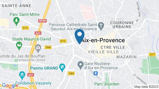 Aparthotel Adagio Aix en Provence Centre Map