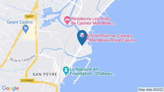 Pullman Cannes Mandelieu Royal Casino Hotel Map