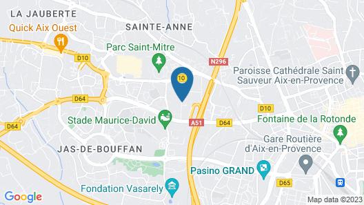 Odalys City Aix en Provence Le Clos de la Chartreuse Map