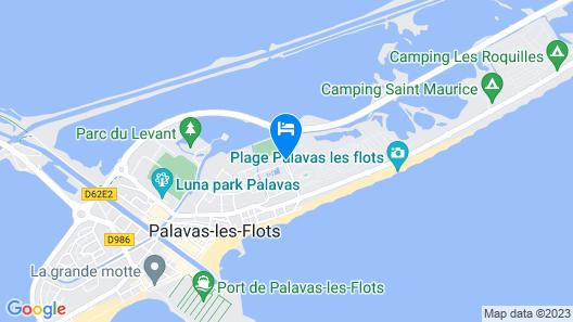 Résidence Lagrange Vacances Le Scarlett et Les Soleillades Map