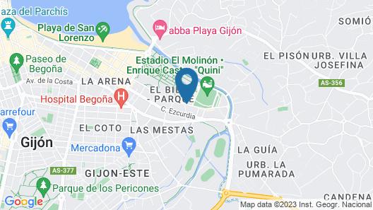 Parador De Gijon Map