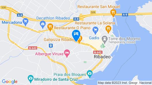 Hospedaxe Carragal Map