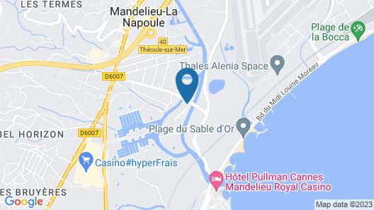 Zenitude Hôtel-Résidences Confort Cannes Mandelieu Map